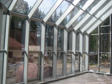 Остекление террасы алюминиевым профилем «Теплый»